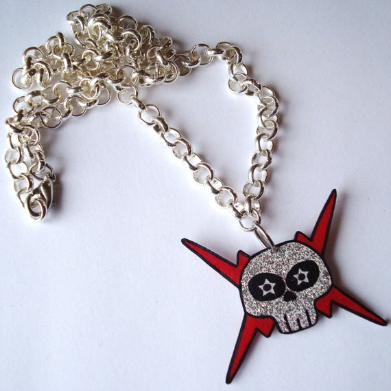 CIRCLING. EyeScream logo necklace.
