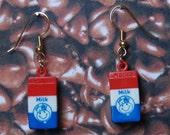 vintage milk carton earrings