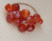 25 percent off First purchase of this ring - Cluster of Carnelian
