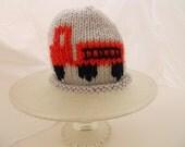 Knit fire Engine Truck  EtsyKids - gray hat
