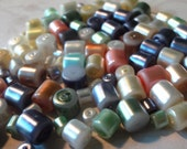 Pearl Finish Plastic Cylinder Beads Faux Pearl Beads Multicolor Tubes Jewelry Making Crafts