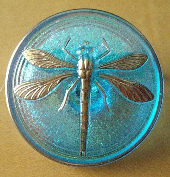 Dragonfly Brooch -Aqua