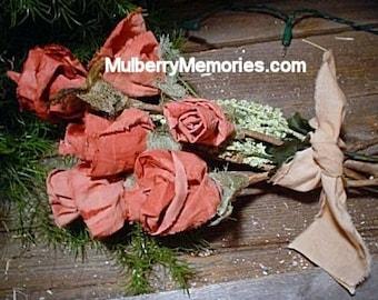 PATTERN No sew fabric ROSES EL