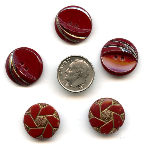 Art Deco Glass Buttons