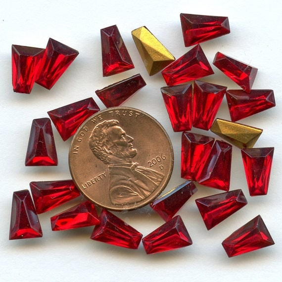 """RESERVED for Diana Vintage RED Keystone Rhinestones Lot of (268) and 2 ounces mixed lot """"d""""  Gold Foil Back Rks4  RESERVED for Diana"""