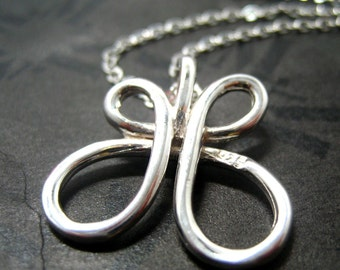 """Draw me a Butterfly Necklace // Sterling Silver 925 Buttefly Outline // 16"""" Sterling Silver Chain // Gift under 30"""