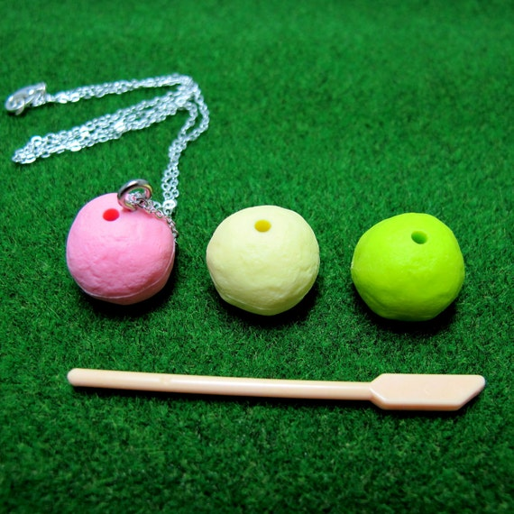 Mochi on a Stick . Necklace (DECONSTRUCTED) - Last Piece