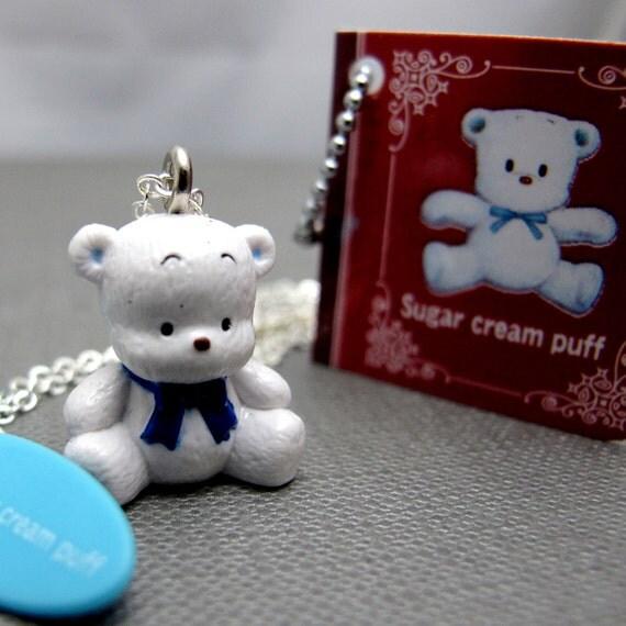 White Bear Necklace . Sanrio Character Archives - Sugar Cream Puff ( Last Piece)