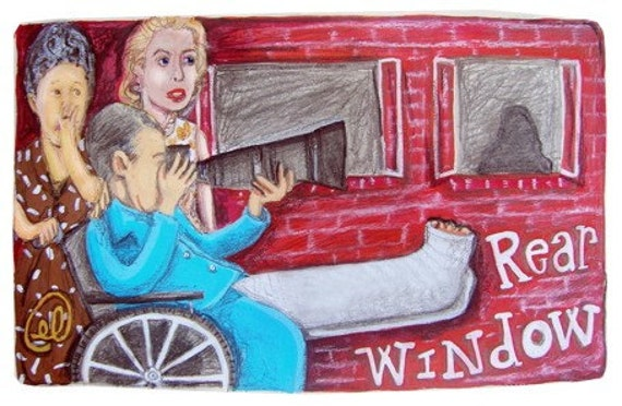Hitchcocks Rear Window inspired limited edition canvas cloth print number 12 of 50