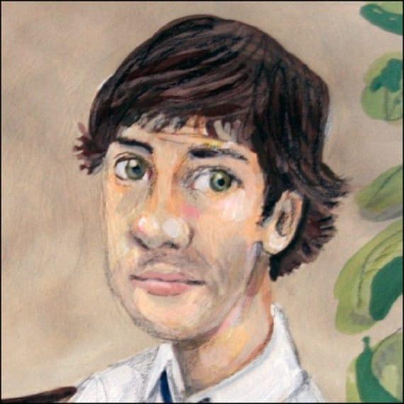 Ode to Jim in The Office US version elloh fine art 5 x 7 print portrait