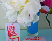 PERSONALIZED MONOGRAM MATCHBOXES with Red Chinoiserie Chair Design