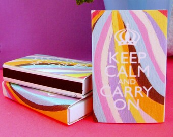 KEEP CALM and carry on MATCHBOXES