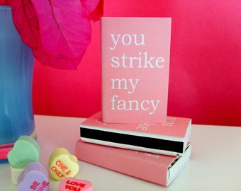 STRIKE MY FANCY Pink Matches