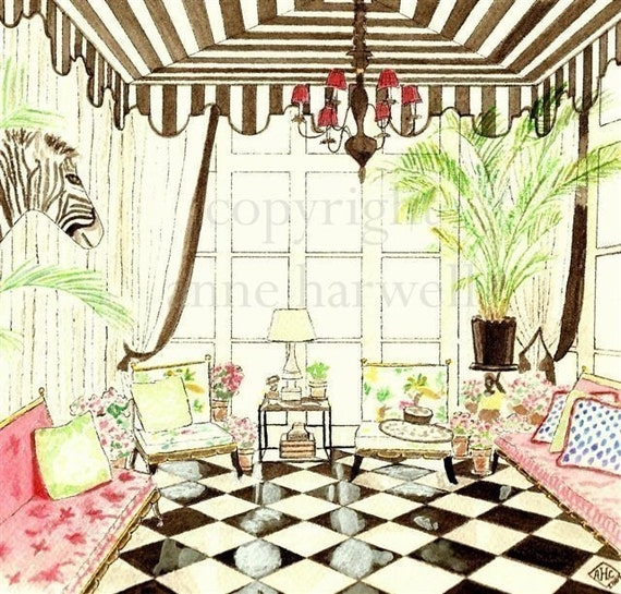 TENTED CONSERVATORY PRINT