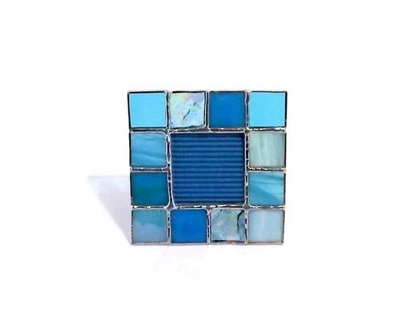 Blue Stained Glass Mini Photo Frame