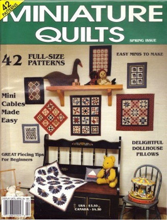 Miniature Quilts Spring 1991 Magazine Back Issue