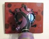 Purple Gas Mask wall art