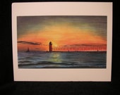 Lighthouse print - South Haven, Michigan