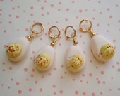 DEVILED EGGS Stitch Markers for Knitting - Handmade from My Bead Garden