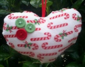 Candy Heart Christmas Tree Ornament