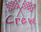 Spit Crew.. Embroidered Baby Burp