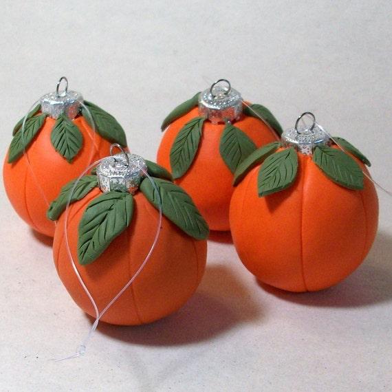 Just pumpkins ornaments set of 4