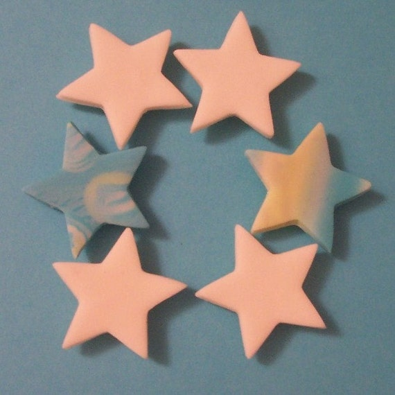 6 Glow in the dark star magnets clearance