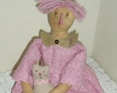 Primitive Hopeful Annie Breast Cancer Awareness Doll Pattern