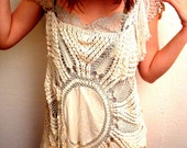 Cocoon Crochet Dress