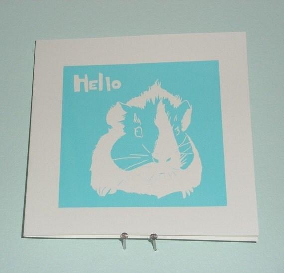 Guinea PIg - Hello Card