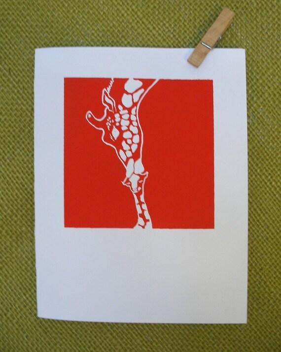 RESERVED FOR CELESTE Giraffes Card X 6 Pack