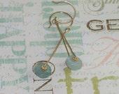 Aquamarine Dangle Earrings 14kt Gold-Filled Earrings - March Birthstone