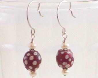 African Trade Bead Earrings - Ethiopia II