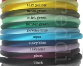 10 skinny satin headbands - wholesale blanks for embellishing - pick your colors