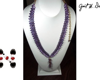 Designer Necklace - Chain Maille, Herringbone, Wire-wrapping