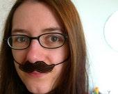 Brown Moustache, fun felt disguise