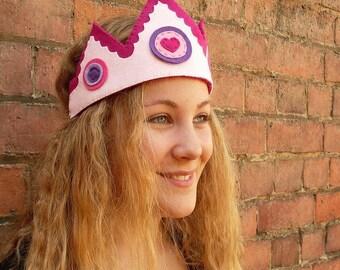 Felt Princess Crown, pink
