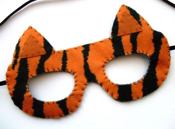 SALE Tiger Mask, felt animal mask