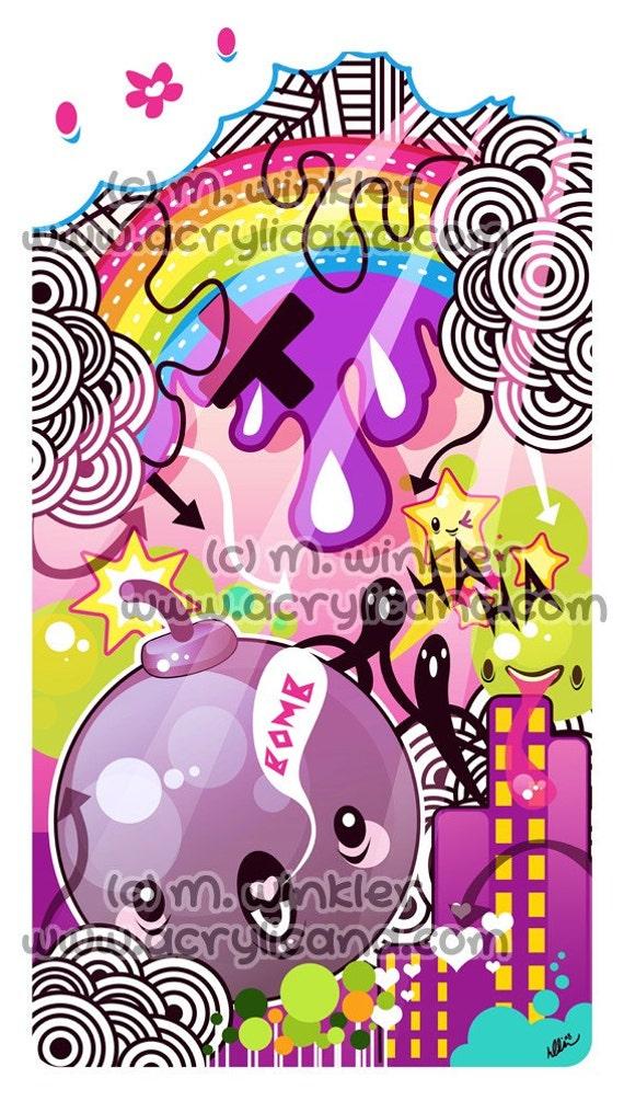 Bombs 11x14 giclee Print