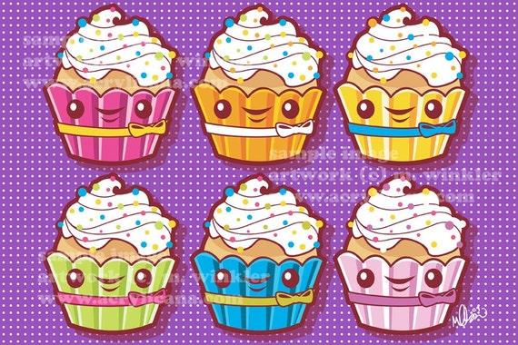 Cucakes 4x6 giclee Print