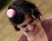 SALE Felt Head Cake . Pink Wool Macaroon