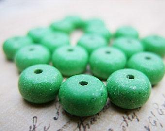 Green Howlite Rondelle Beads - 7x5MM - B-6017