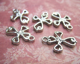 Silver-Colored Pewter Cross Charms - B-5972