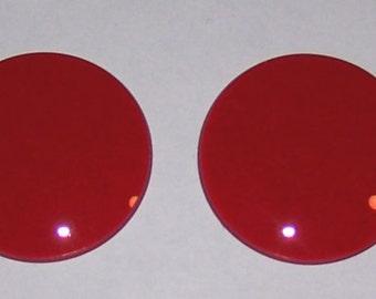 Red Goggle Lenses- Pair steampunk goth dr who cyberpunk dieselpunk - By Darkwear Clothing