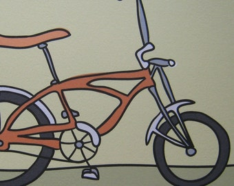 Orange Bicycle - A Bike in the Transportation Series by Danielle J. Hurd