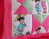 China Doll Quilted Children's Pillow