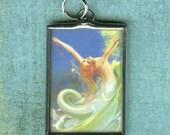 Playful Surf Vintage Mermaid Pendant
