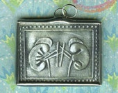 Mexican Milagro Miracle Kidney Anatomy Pendant Charm