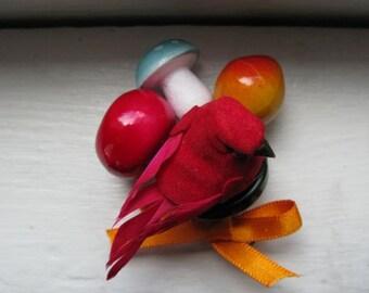 cardinal brooch