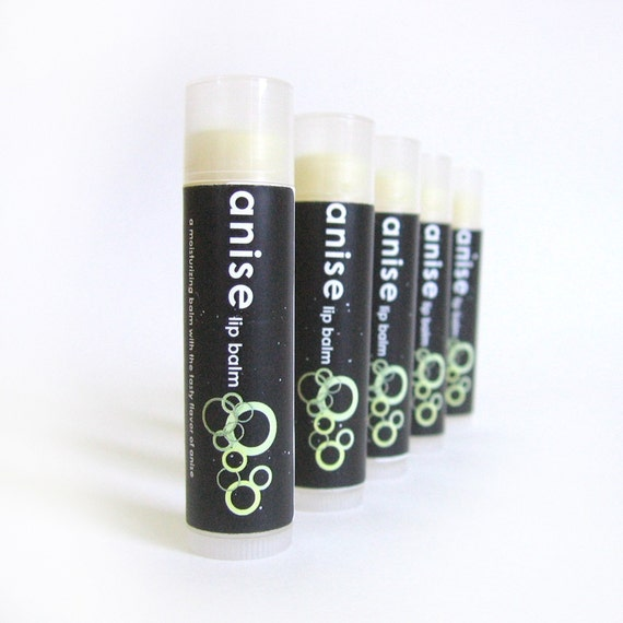 Anise Lip Balm - with Shea Butter and Organic Coconut Oil